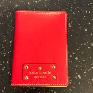 Kate Spade Passport Holder in Red